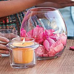 Clearly Creative™ Escential Jar Holder by PartyLite - Decorate and personalize for any season! http://www.partylite.biz/legacy/sites/nikkihendrix/productcatalog?page=productdetail&sku=P91532&categoryId=58466&showCrumbs=true #pink #orange #candle #gardening #petals #jar #glass #fillers #homedecor #centerpiece #wedding