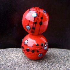 MruMru Handmade Lampwork Glass Bead Earring Pair by magdalenaruiz, $13.00