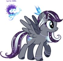 Icy Custom Pony by YukiAdoptablesPonies her name is Snowfall