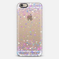 Blue Purple Hearts Rain Transparent iPhone 6 Case by Organic Saturation | Casetify. Get $10 off using code: 53ZPEA