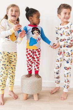Disney Snow White and The Seven Dwarfs organic long john pajamas by Hanna Andersson