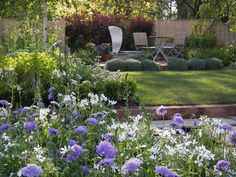 Jo Gardens designer of Inscapes Garden for RHS spring flower show in Cardiff.