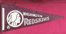 RARE VINTAGE EARLY 1960s WASHINGTON REDSKINS FELT PENNANT VERY NICE!!