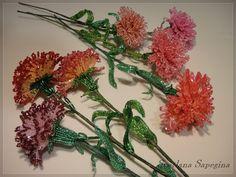 French Beaded Carnations by Svetlana Sapegina