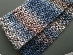 Cat's Tale: Tunisian Resolution Scarf pattern.
