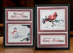 Watercolor Christmas Blog Hop | Carneyval  #clubscrap #freebie Hybrid cards by Jac Carney