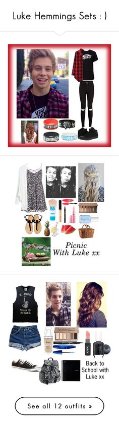 """""""Luke Hemmings Sets : )"""" by heyitscj5sos ❤ liked on Polyvore featuring moda, Vans, Converse, Inspired, 5sos, lukehemmings, maurices, MANGO, Maybelline i Urban Decay"""
