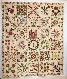 Some wonderful blocks!   Album quilt, 1853 ~ Auction, 4/27/2014