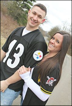 Pittsburgh Steelers & Pirates jerseys.