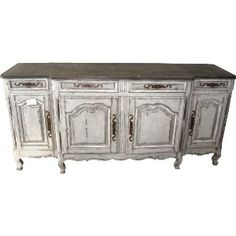 Painted French Four Door Buffet
