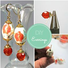 #DIY earrings- beginner bead dangles plus an advanced tip to keep large hole beads from turning & wobbling!