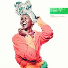 Alex Wek working the new campaign for United Colors Of Benetton...yes its still going!