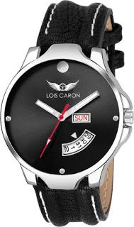 e9707187679 Purchase in Minutes  Lois Caron LCS-8058 BLACK DIAL DAY   DATE FUNCTION.