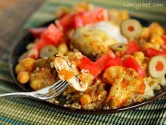 Amazing Slow Cooker Moroccan Chicken #CampbellsSkilledSaucers #sponsored #crockpot