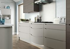 Our new teardrop feature shown in Luna. This will add a unique flair to your kitchen!