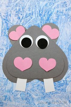 heart animal homeade valentines | 1000+ ideas about Hippo Crafts on Pinterest | Lion Craft, Monkey ...