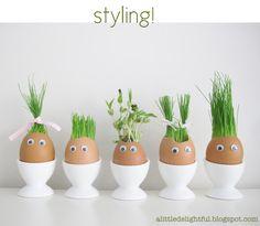 super cute super easy egg plantings