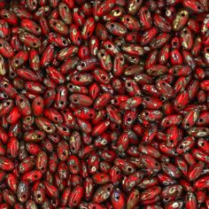 Czech Seedbeads -  Rizos - Red Picasso