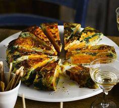 Spinach & pepper frittata