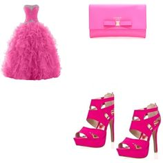 """pink prom"" by jsf2004 on Polyvore"