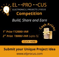 The stakes just went high. we have raised the cash give-away prize this time. Take away a whooping cash prize up to INR with your unique Electronics and Electrical projects. Electronics Components, Electrical Components, Electronic Engineering, Electrical Engineering, Arduino Based Projects, Communication Networks, Win Cash Prizes, Electrical Projects, Science Fair Projects