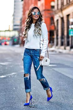 Ways How to Wear Ripped Jeans for Women ★ See more: http://glaminati.com/wear-ripped-jeans-for-women/