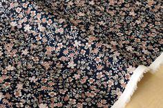 Japanese Fabric Tiny Flowers II  cotton lawn  dark от MissMatatabi батист