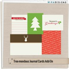 FreeTree-mendous Christmas Journal Cards from Mira Designs