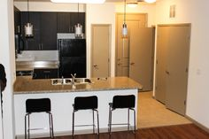 Kitchen in the C1 unit at the University House Central Florida     #student #college #UCF #apartment