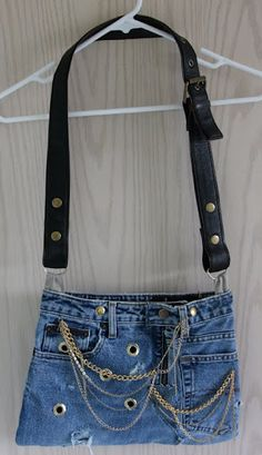 Denim bag from jeans