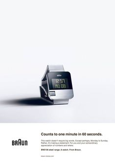 Braun digital wristwatch [1280x1810] #advertising #marketing #online #RT #business #socialmedia #SEO #traffic G Shock Watches, Watches For Men, Dieter Rams Design, Braun Dieter Rams, Braun Design, Clever Advertising, Big Words, Back To The Future, Design Case