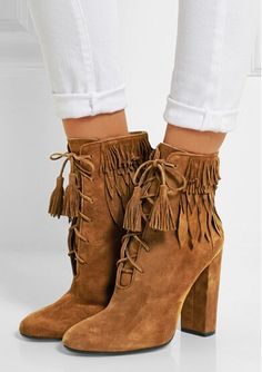 100.00$  Buy now - http://alicf0.shopchina.info/go.php?t=32772827057 - AVVVXBW 2016 Winter Boots Pointed Tassel High-heeled Ankle Boots Fashion Martin Short Boots Genuine Leather Botas Femininas C381  #buyonlinewebsite