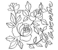 ausmalen malvorlagen gratis ausdrucken rose blumen motive zum picture | ideen | pinterest