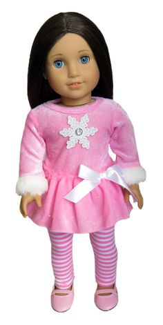 Silly Monkey - Pink Velour Dress with Snowflake and Striped Leggings, $16.99 (http://www.silly-monkey.com/products/pink-velour-dress-with-snowflake-and-striped-leggings.html)
