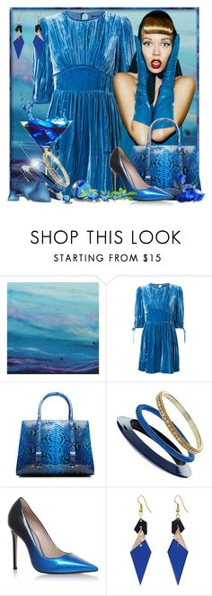 """Blue Velvet"" by doozer ❤ liked on Polyvore featuring La Perla, Miss Selfridge, Carvela and Toolally"