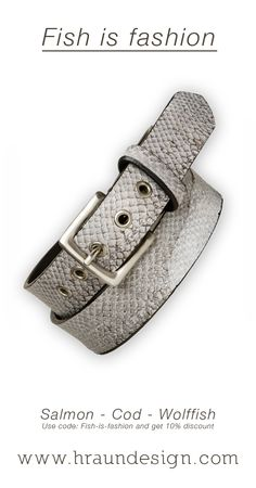 We love fish, We love fashion. Get 10% of all fishleather products now. Use code fish-is-fashion  Hraun- Art and design -www.hraundesign.com #belt #fishleather #fashion #sustainable #sustainablefashion