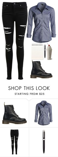 """""""Waitress #4"""" by mari-marishka ❤ liked on Polyvore featuring Dr. Martens, NIC+ZOE, Miss Selfridge and Saks Fifth Avenue Collection"""