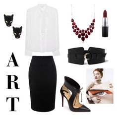 Nocturnal Animals - Susan's Attire by jessica-gonzatto on Polyvore featuring polyvore, moda, style, Diane Von Furstenberg, Alexander McQueen, Christian Louboutin, Alexis Bittar, Ross-Simons, River Island, MAC Cosmetics, fashion, clothing, WorkWear, chic, movie and inspiration