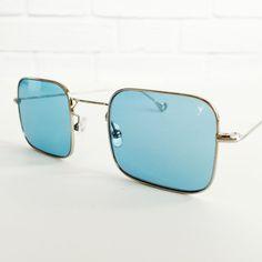Lunettes de soleil carré rétro vintage, des années 70 de style carrés lunettes de soleil, lunettes de soleil Vintage, CONTA Eyepetizer 1-2 lunettes de soleil