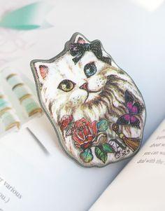 Korean Fancy Missy Cat Brooch - SUDDENLY CAT