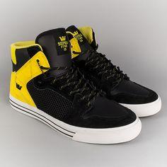 Supra Vaider Shoes - Black/Yellow