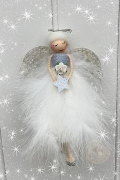 Fairy Crafts, Flower Fairies, Fairy Dolls, Doll Accessories, Fabric Flowers, Horror, Angels, Christmas Ornaments, Holiday Decor