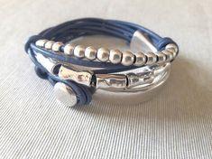 Leather Wrap Bracelet Beaded Beads Bracelet Uno de 50 Style
