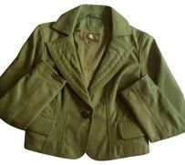 Wilsons Leather Blazer Green Leather Jacket