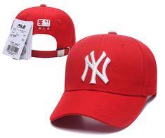 lowest price befc1 08c7d MLB Yankees Team Logo Red Peaked Adjustable Hat. sa li · MLB Snapbacks New  Era 9FIFTY Hats
