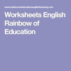 Worksheets English Rainbow of Education