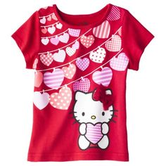Hello Kitty Infant Toddler Girls Tee - Red