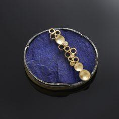 Margaret Dittrich, brooch . Lapis lazuli, silver, gold, diamonds(?)