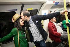London after-wedding session (London Underground)