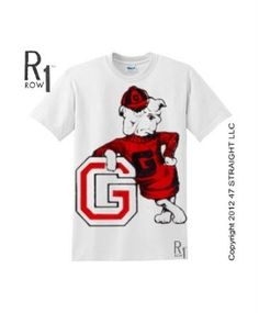 Vintage Georgia shirt made from authentic artwork in the 47 STRAIGHT COLLECTION.™ Great ROW 1™ Georgia shirt for the 2012 college football season!